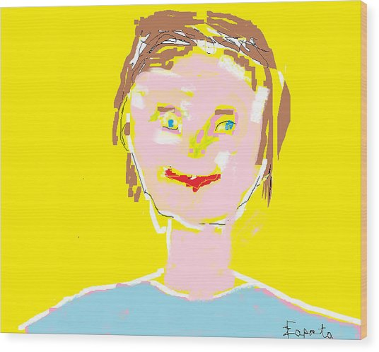 Woman Smiling Wood Print