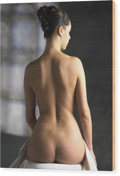 Woman's Back Wood Print by Tony Mcconnell