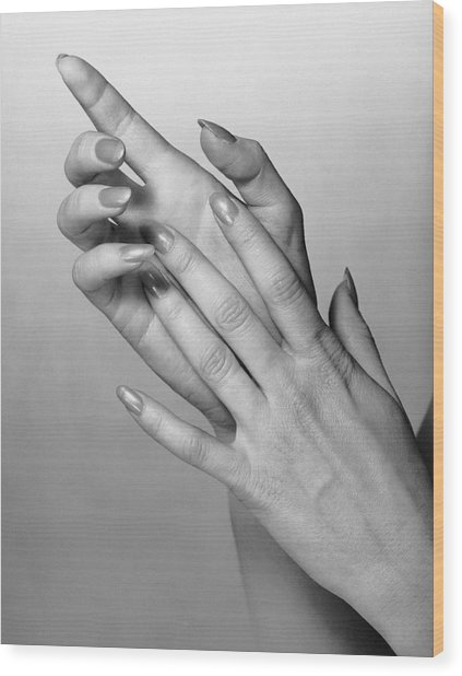 Woman's Hands Wood Print by George Marks