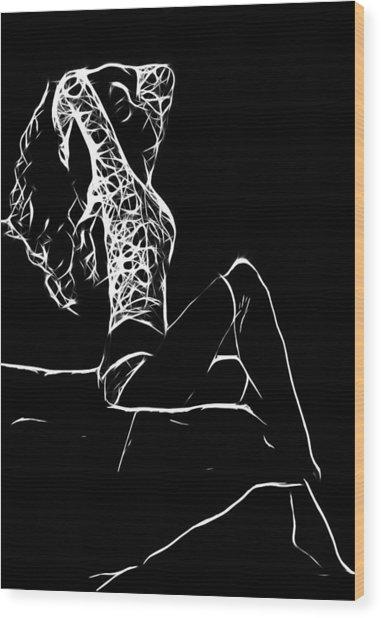Women In Stockings Wood Print