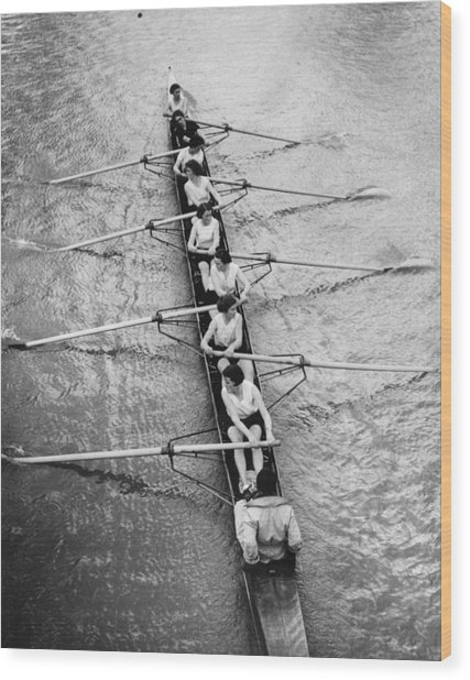 Women's Rowing Wood Print by William Wanderson