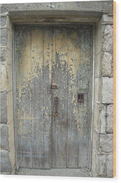 Wooden Doors Wood Print