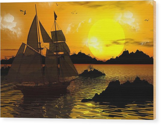 Wooden Ships Wood Print