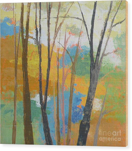 Woodland #3 Wood Print by Melody Cleary