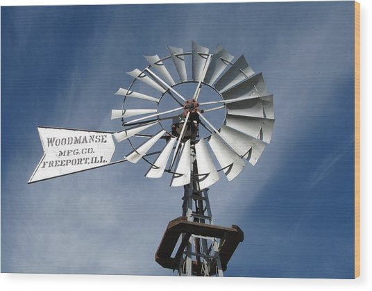 Woodmanse Windmill Wood Print