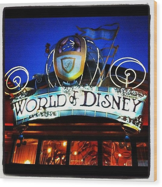 World Of Disney Wood Print