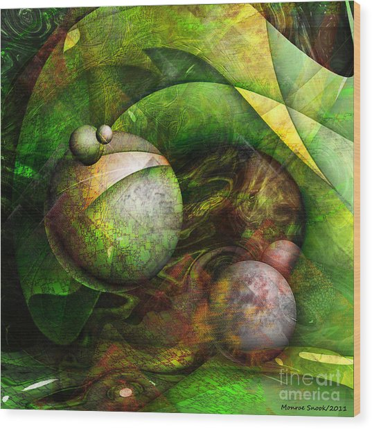 Wormwood Wood Print by Monroe Snook
