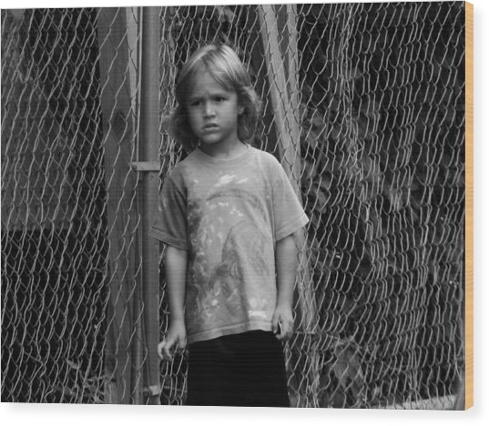 Worried Innocence Wood Print by Jonathan Baca