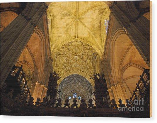 Worship Up Above  Wood Print by Perry Van Munster