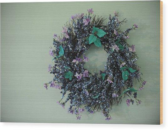 Wreath Wood Print by Brandon McNabb