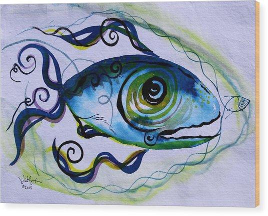 Wtfish 009 Wood Print