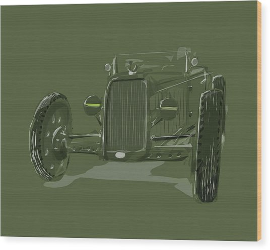 Ww2 Rod Wood Print