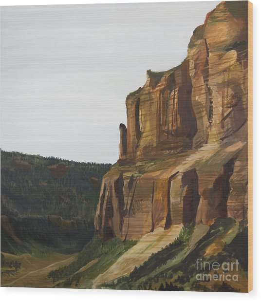 Wyoming Cliffs Wood Print