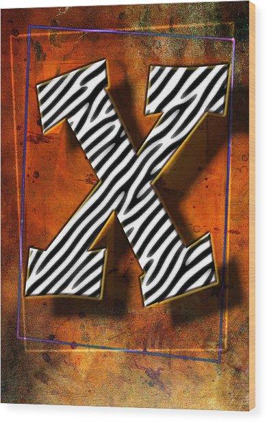 X Wood Print