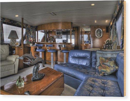 Yacht Cabin Wood Print