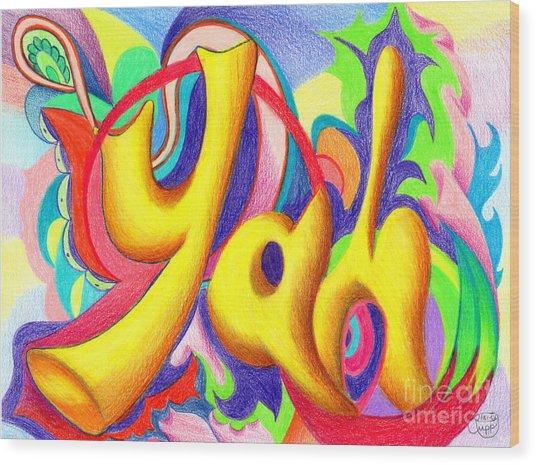 YAH Wood Print