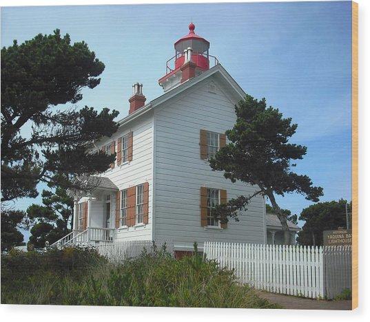 Yaquina Bay Lighthouse Newport Wood Print
