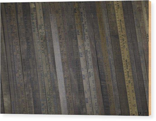 Yardsticks - Aged 18 Inch Closer 1 Wood Print