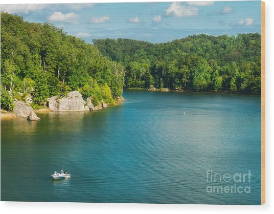 Yatesville Lake Wood Print