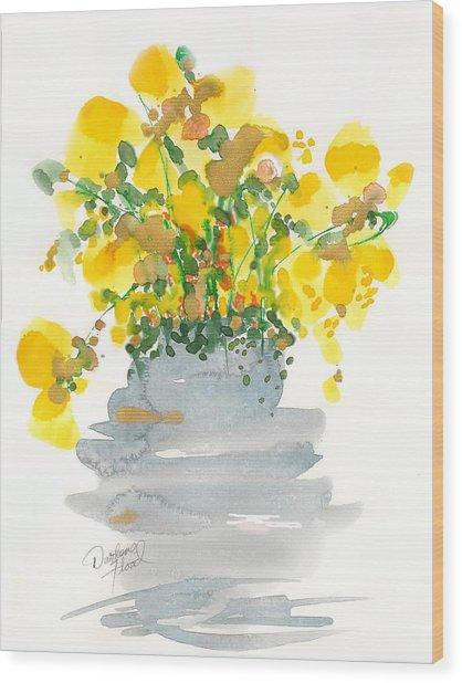 Yellow Blossoms Wood Print