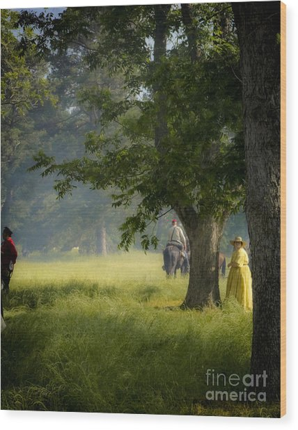 Yellow Dress Wood Print