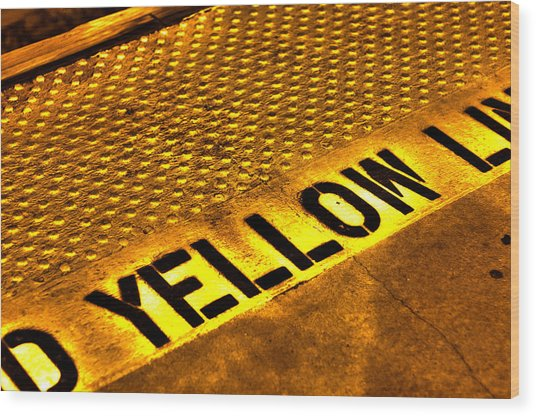 Yellow Wood Print by Jeffrey Auger