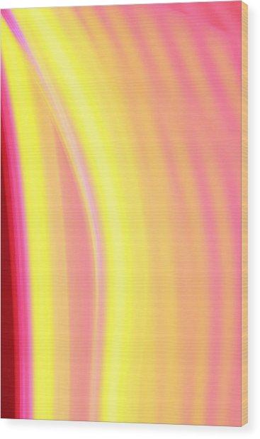 Yellow Neon Wood Print by Will Czarnik