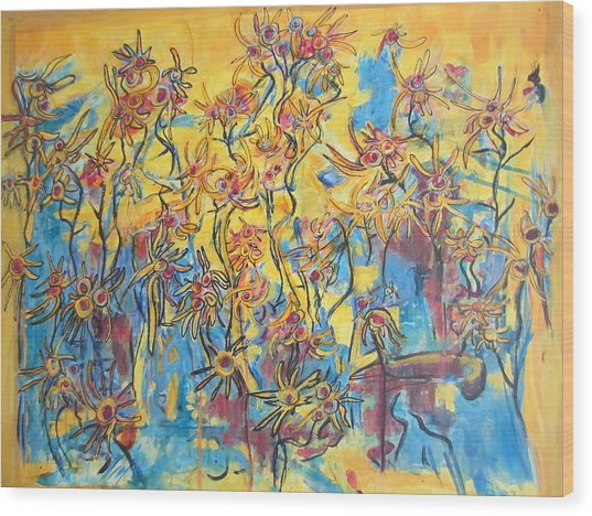 Yellows Singing The Blues Wood Print