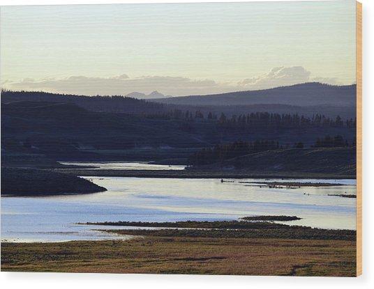 Yellowstone Landscapes Wood Print