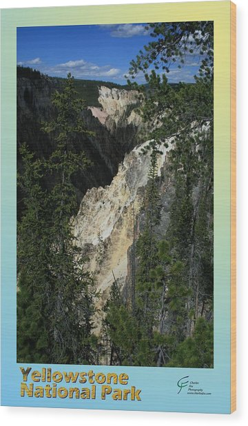 Yellowstone Np 004 Wood Print by Charles Fox