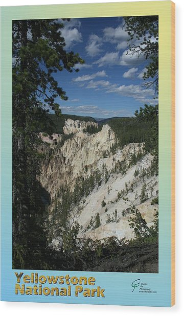 Yellowstone Np 007 Wood Print by Charles Fox