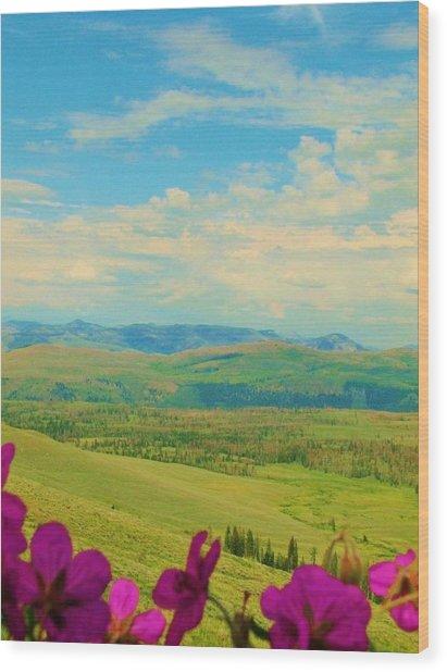 Yellowstone Valley Wood Print by Virginia Lei Jimenez