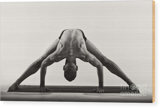 Yoga Ix Wood Print