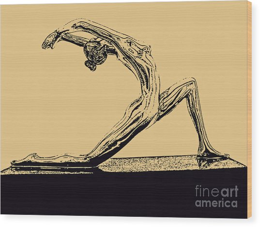 Yoga Number One Wood Print