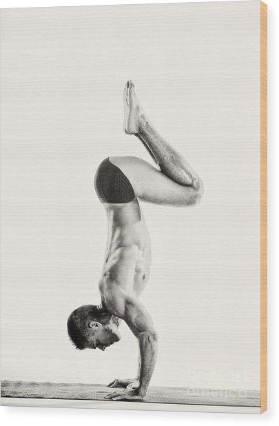 Yoga Vi Wood Print
