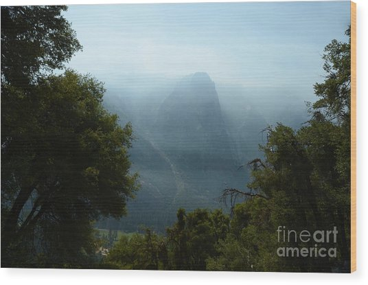 Yosemite Falls Hike Wood Print