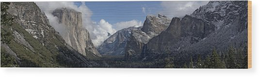 Yosemite Valley Panoramic From Tunnel View Wood Print by Joseph Wilson