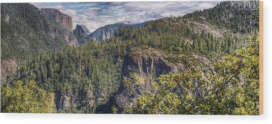 Yosemite Valley Wood Print by Stephen Campbell