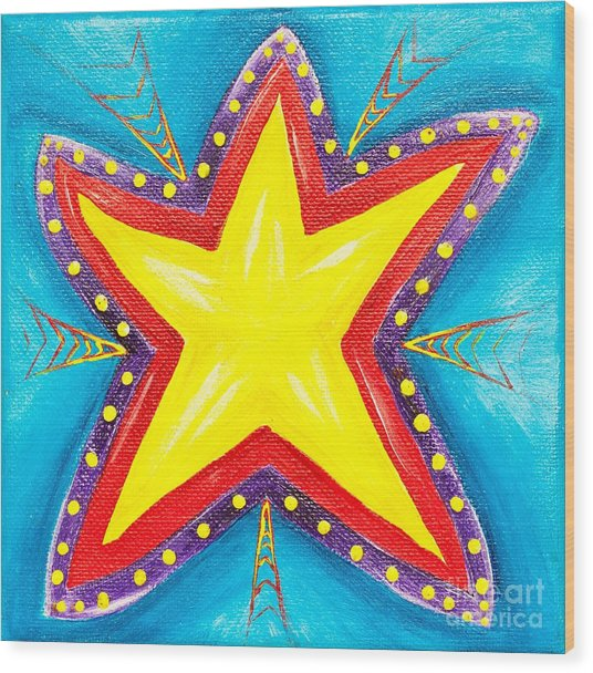 Your A Star Wood Print by Melle Varoy