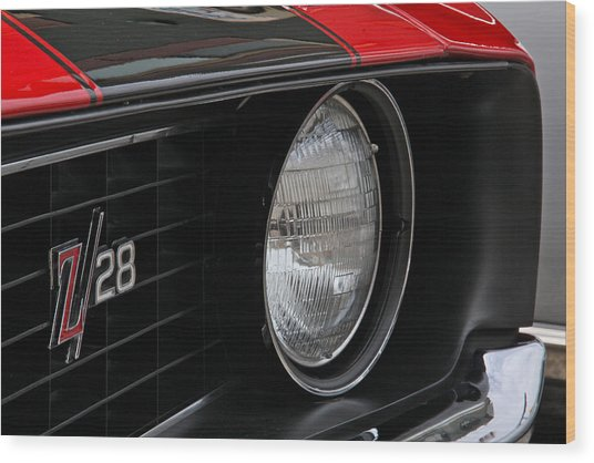 Z28 Wood Print by Chuck Zacharias