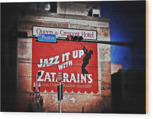 Zatarain's Building Sign Wood Print