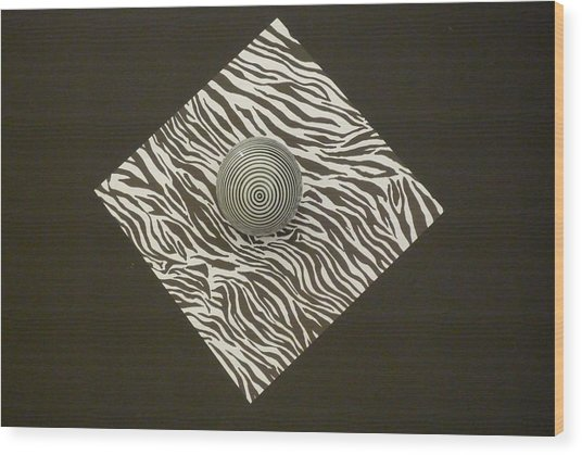 Zebra Square Wood Print