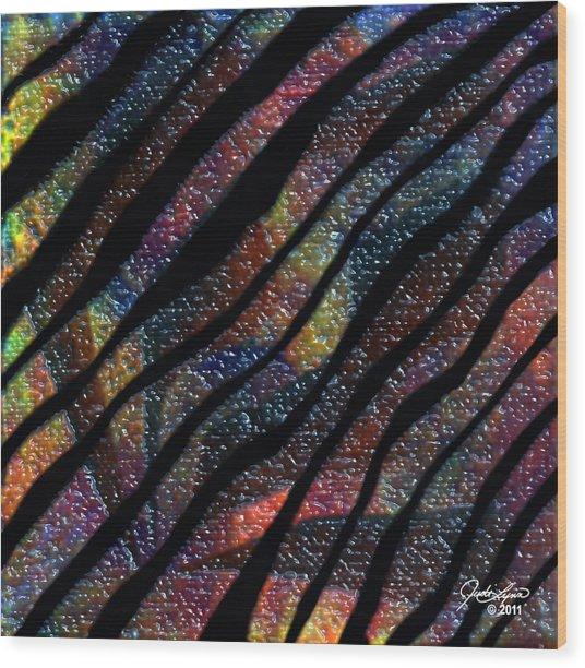 Zebra Yumyum Wood Print