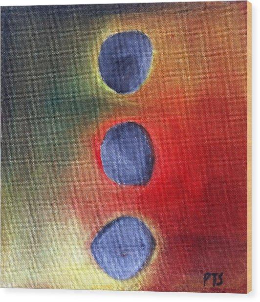 Zen Balance Wood Print by Prachi  Shah