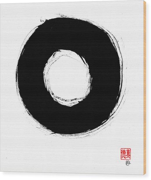 Zen Circle Seven Wood Print