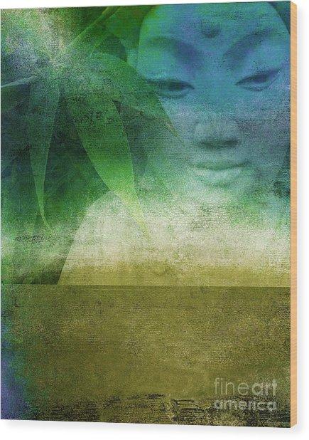 Zen Garaden Wood Print by Ricki Mountain