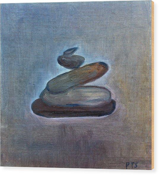 Zen Stones Wood Print by Prachi  Shah