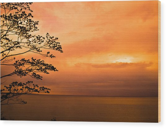 Zen Sunset Wood Print