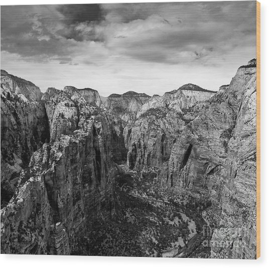Zion National Park - View From Angels Landing Wood Print