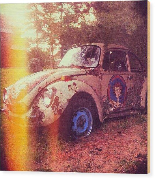 #zombiecar #vw #volkswagen #bug Wood Print